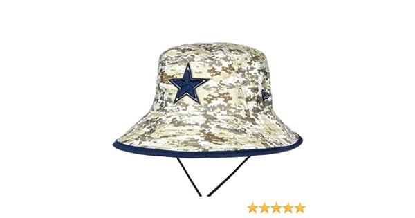 9599cf2ce3a616 Amazon.com : Dallas Cowboys New Era Salute to Service Digi Camo Bucket Hat  : Sports & Outdoors