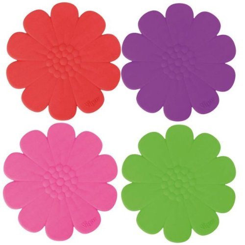 """SOTTOPENTOLA IN SILICONE FIORE """"KOSY"""" - 4 VARIANTI - H 23CM VIGAR"""
