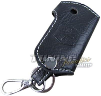 Bolsa de llaves Llave funda estuche llavero piel auténtica blanco: Amazon.es: Coche y moto