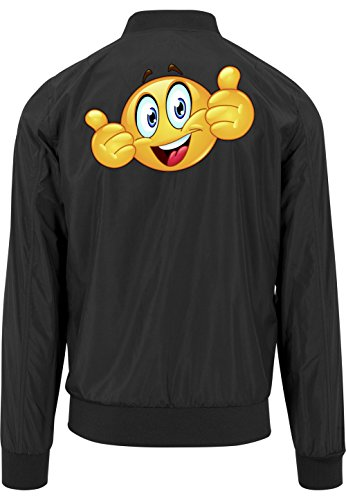 Smiley One Bomberjacke Black Certified Freak