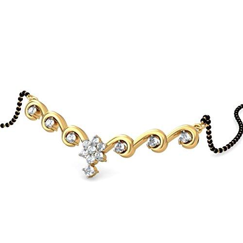 Or jaune 14K 0,4carat au total White-diamond (IJ | SI) Mangalsutra