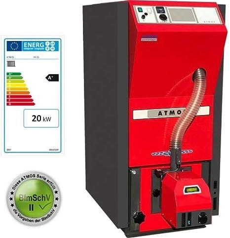 Atmos Pellet Caldera tipo PX15y PX20compacto Caldera Serie Pellet Calefacción Selección Atmos Caldera PX20–6de 20kW