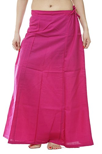 etticoat Peticoat Sari Saree Underskirt Premium Cotton Bollywood Saree Skirt (#5) ()