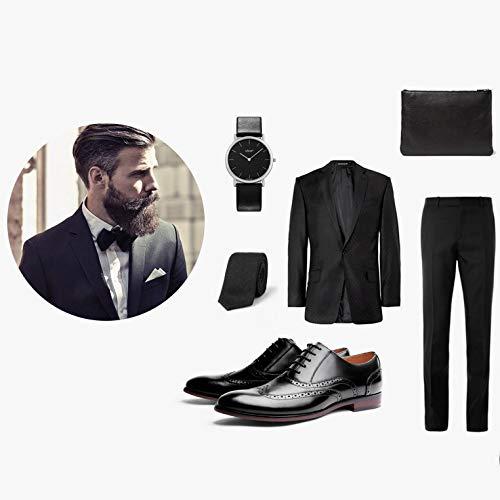 YongBe Herren Geschäfts Formale echte Leder Lace-Up Oxford Schuhe Derby Smart Office Work Derby Schuhe Männer Hochzeit Kleid Schuhe Low-Top Schnürschuhe 792abf