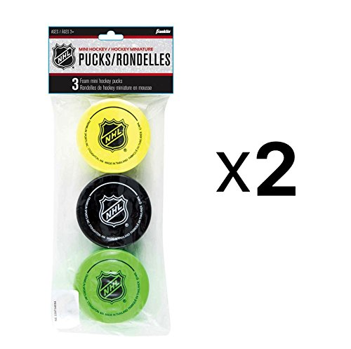 Franklin NHL Soft Sponge Mini Knee Hockey Pucks 3 Pieces Durable New (2-Pack) – DiZiSports Store