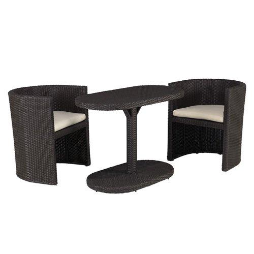 papillon taormina gartenm bel set rattan braun 3 teilig g nstig. Black Bedroom Furniture Sets. Home Design Ideas