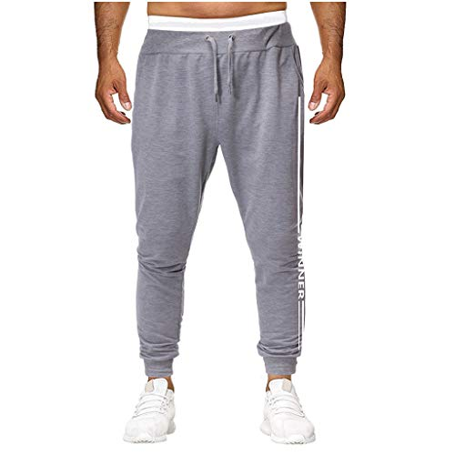 - Seaintheson Men's Workout Pants,Summer Outdoor Solid Color Athletic Pants Casual Training Overalls Pants with Pocket Gray