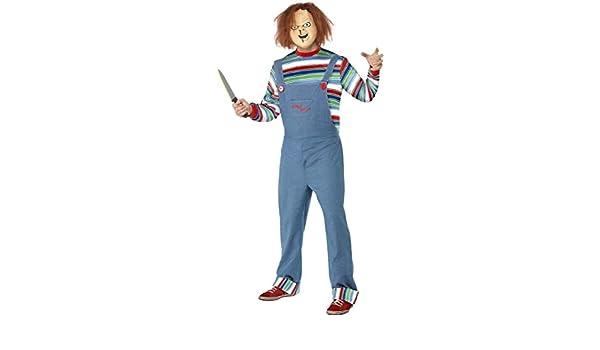 Smiffys Disfraz Infantil de Chucky - tamaño Grande para Hombre ...
