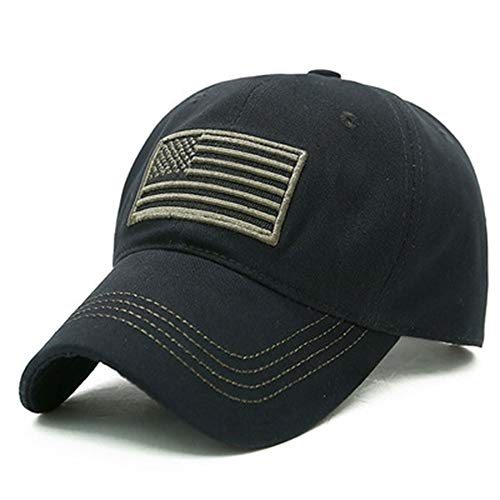 BUJIATE Baseball Caps, American Flag Hats,Military Hats,Polo Hat,Dad-Hats for Father's Day,Thanksgiving Gift (Black & Coffee)