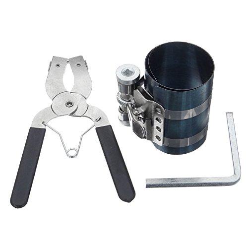 AuHandle Pinza per fasce elastiche Pistone Installatore Compressore Cricchetto Pinza Estrattore Strumento motore