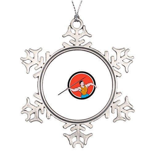 Eagle Mailbox Ornament - Metal Ornaments Xmas Trees Decorated Javelin Throw Track and Field Circle Cartoon Small Christmas Snowflake Ornaments