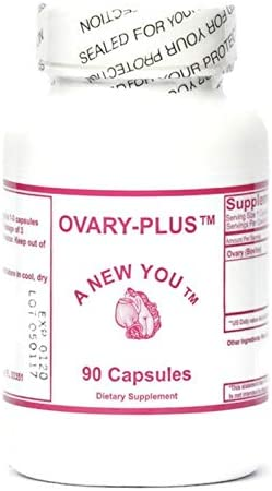 Ovary Plus Feminizing Pills for Crossdressing, Transgender. Pure Bovine Ovary Glandular 90 Count