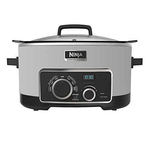 NINJA Multi-Cooker 4-in-1, White, 6 Qt. (Certified Refurbished) (Slow Function Cooker With Sear)