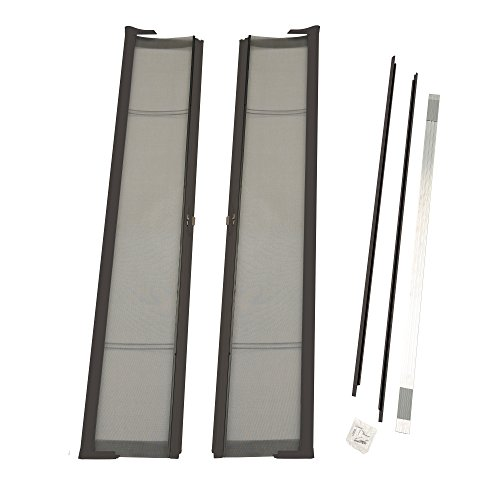 ODL Brisa Premium Retractable Screen Kit for 80 in. Inswing Hinged Double Doors - Bronze (Double Doors Hinged)
