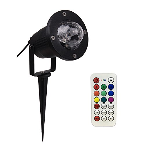 StarLight Outdoor Ripple Effect Light Projector with 7 Colors, Remote Control - Light Decoration for Outside or Inside Your House, for Holidays, Parties, Dances, Etc.