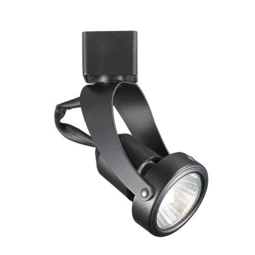 WAC Lighting JTK-104-BK Miniature Line Voltage Track Fixture, Black