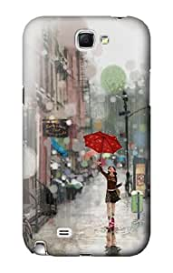 S0108 Girl in The Rain Case Cover for Samsung Galaxy Note 2