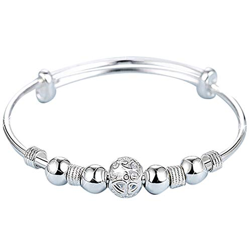 Bsjmlxg Silver-Plated Exquisite Ball Bracelet, Jewelry Bridal Wedding Prom Party Pageant Gifts