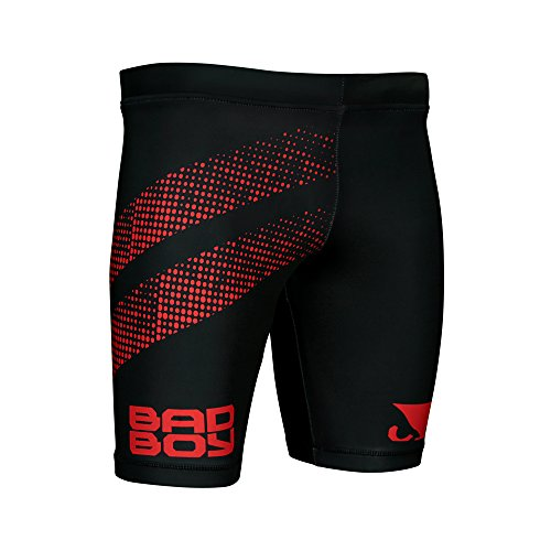 ester Competition MMA Mixed Martial Arts Vale Tudo Shorts Black/Red - X-Large ()