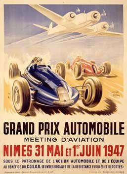 Geo Ham - Grand Prix Auto And Aviation Giclee on acid free ()