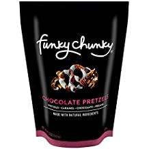 FunkyChunky Pretzels, Chocolate, 5 Ounce (Pack of 12)