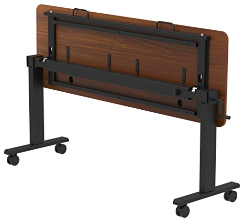 Crank Height Adjustable, Flip Top Nesting Standing Collaboration Table with Rolling Locking Casters to Easily Store by Stand Up Desk Store (Image #1)
