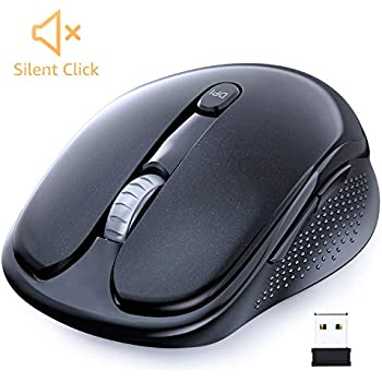 Wireless Mouse, RATEL 2.4G Wireless Silent Mouse Optical Mouse Computer Mouse with USB Nano Receiver 3 Adjustable DPI Levels Portable & Compact 6 Buttons Wireless Mice for Windows, Mac