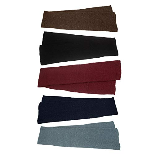 48 Pack - Wholesale Unisex Winter Scarves in 5 Assorted Colors - Bulk Case 48 Scarf