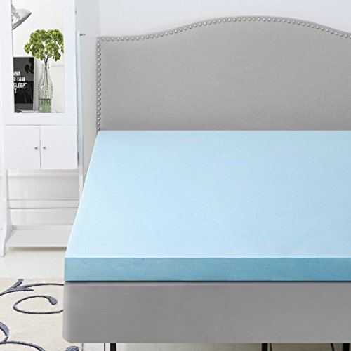 LANGRIA 3-Inch Gel-Infused Memory Foam Mattress Topper CertiPUR-US Certified Gel Memory Foam, Removable Zipper, Hypoallergenic Bamboo Cover (Twin)