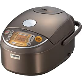 Zojirushi NP-NVC10 Induction Heating Pressure Cooker and Warmer, 5.5 Cup, Stainless Brown, Made in Japan