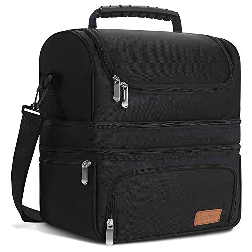 Lunch Box, Insulated Lunch Bag for Men & Women, FDA Registered Reusable Waterproof Large Cooler, Tote Bag for Meal Prep with 3 Main Spacious Compartments by Sable