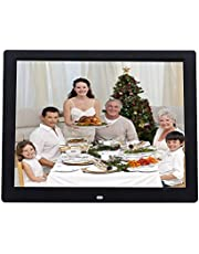 14 inch High-Definition Digital Photo Frame Electronic Photo Frame Showcase Display Video Advertising Machine Durable (Color : Black)
