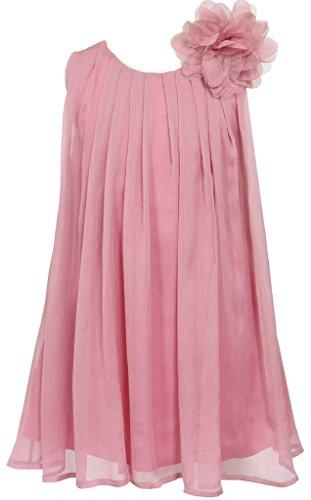 Big Girls' Adorable Chiffon Mesh Flower Flowers Girls Dresses Rose Size 8