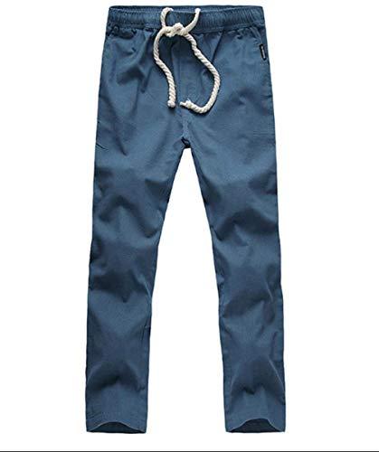 Style Hommes Pantalon Été Couleur Pantalons Confortables Crystallly Pour Blau En Et Avec Unie Longs Simple Lin Décontracté qI8xxw6t