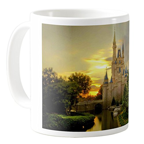 AquaSakura - Thomas Kincaid Painting Cinderella Castle Castle Disneyland Usa Florida - 11oz Ceramic Coffee Mug Tea Cup