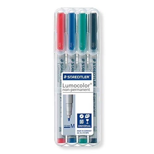 Staedtler Universal pen Lumocolor non-p M 4 Piece (315 WP4) (Erase Marker Permanent Dry)