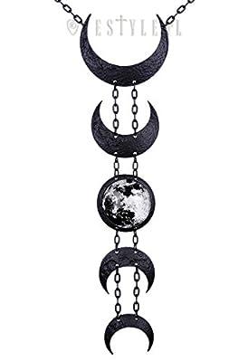 Restyle Lunar Black Necklace