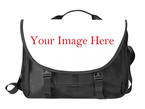 BlackForestQ Custom Laptop Bag - Multi-Function Oxford Fabric Messenger Bag with Shoulder Strap and Pockets – Personalize Computer Bag with Your Own Image and Create Stylish Tablet Bag by yourself ()