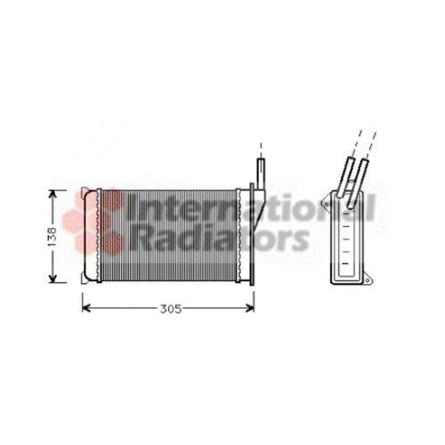 Van Wezel 18006093 Heat Exchanger Interior Heating VAN WEZEL GMBH 36_18006093