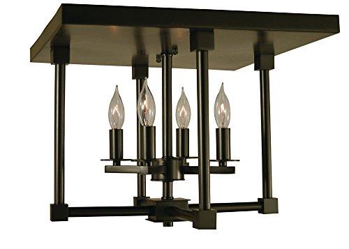 Framburg Lighting 4600 MB Lexingto Four Light Semiflush In Mahogany Bronze With Glass ()