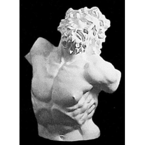 ラオコーン半身像(人体石膏像)【参考資料・観賞資料 石膏像】BB12707