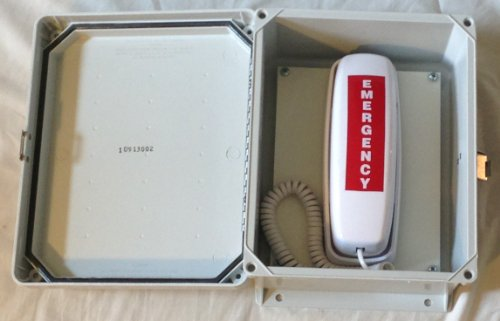 Outdoor Emergency Phone 911 Only Emergency Land Line