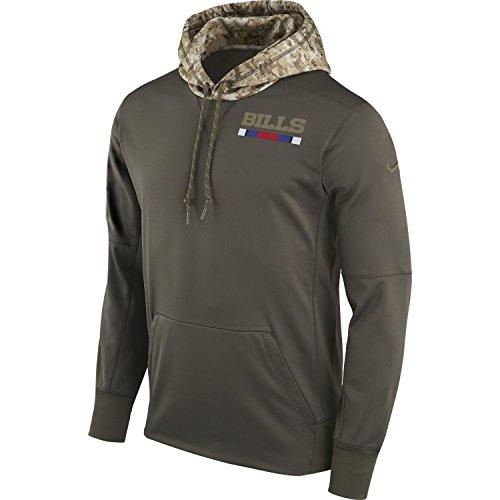 Sidelines Buffalo - NIKE NFL Salute to Service Sideline Pullover Hoodie - Hooded Sweatshirt 2017 (Medium, Buffalo Bills)