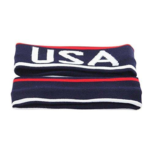 USA Sweatband Headband for Sports and Fashion (Head Band Usa)