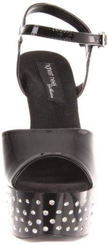 Highest 11 Black Women's Platform bpat Dazzle Polyurethane Patent Sandal The Heel TIfpAnqwId