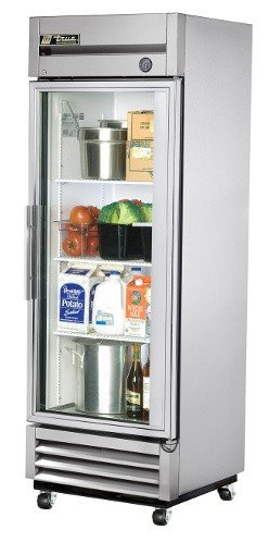 (True T-Series Right Hinged Glass Door Refrigerator, 19 Cubic Ft)