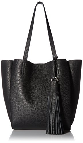 Vince Camuto Nylan Bonded Small Tote, Nero by Vince Camuto