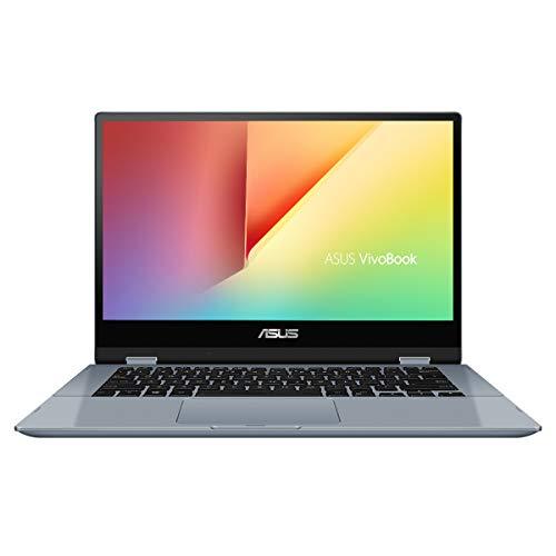 ASUS VivoBook Flip 14 TP412FA-EC381T – Portátil convertible de 14″ FullHD (Intel Core i3-10110U, 8GB RAM, 256GB SSD, Windows 10 Home) Azul Galaxia – Teclado QWERTY español