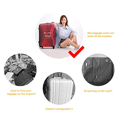 TOGEDI Luggage Cover Anti-scratch Baggage Cover Protector Washable Dust Thicken Elasticity Cover Travel for 18-32inch Luggage