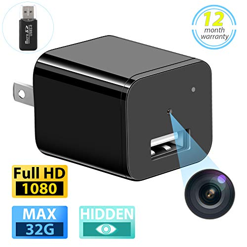 Spy Hidden Camera Full HD 1080P Mini Hidden Nanny Cam USB Wall Charger Surveillance Camera